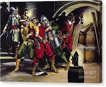 The Gunpowder Plot Canvas Print by Ron Embleton