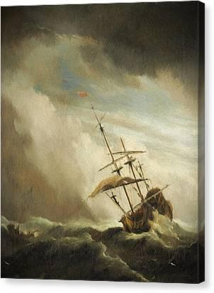 The Gust 2 Canvas Print by Willem van de Velde