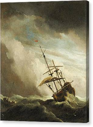 The Gust 3 Canvas Print by Willem van de Velde