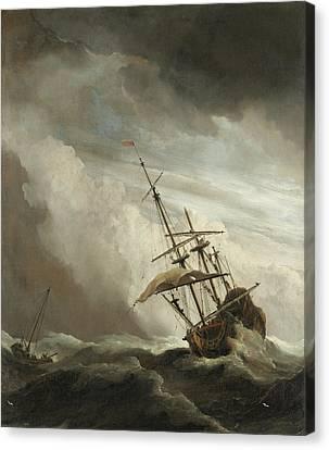 The Gust Canvas Print by Willem van de Velde