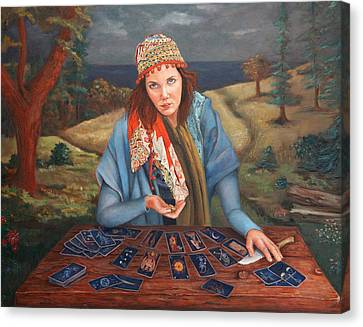The Gypsy Fortune Teller Canvas Print by Enzie Shahmiri