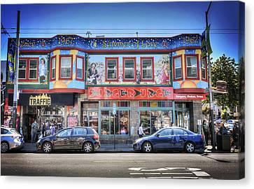 The Haight - Burger Urge - San Francisco Canvas Print by Jennifer Rondinelli Reilly - Fine Art Photography