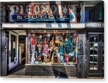 The Haight - Piedmont Boutique Store Front - San Francisco Canvas Print by Jennifer Rondinelli Reilly