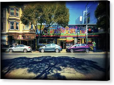 The Haight - Rasputin Records - San Francisco Canvas Print by Jennifer Rondinelli Reilly - Fine Art Photography