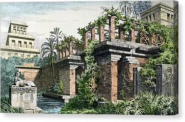 The Hanging Gardens Of Babylon Canvas Print by Ferdinand Knab