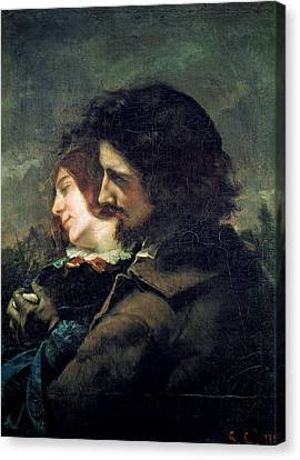 The Happy Lovers Canvas Print by Gustave Courbet