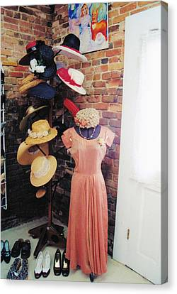 The Hat Rack Canvas Print by Jan Amiss Photography