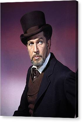The Haunted Palace, Vincent Price, 1963 Canvas Print by Everett