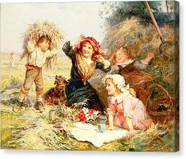 The Haymakers Canvas Print by Frederick Morgan
