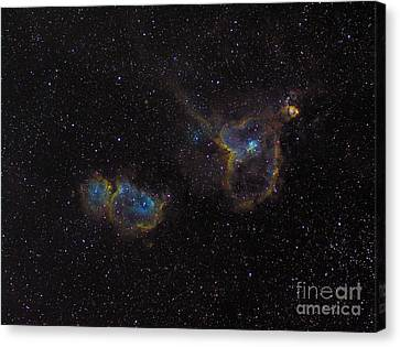 The Heart And Soul Nebulae Canvas Print by Filipe Alves