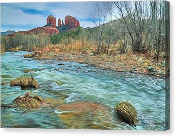 The Heart Of Sedona Canvas Print by Donna Kennedy