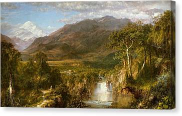 The Heart Of The Andes Canvas Print by Frederic Edwin Church