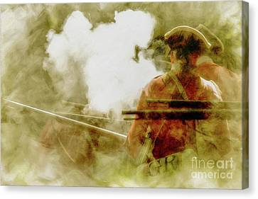 The Heat Of Battle Canvas Print by Randy Steele