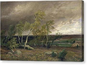 The Heath In A Storm Canvas Print by Valentin Ruths