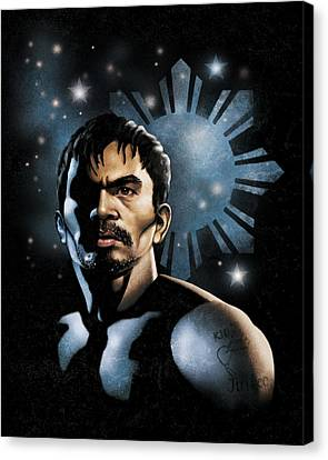 The Heavens Shine On Pacquiao Canvas Print by Elvin Dantes