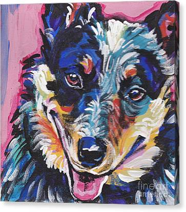 The Heeler Canvas Print by Lea S