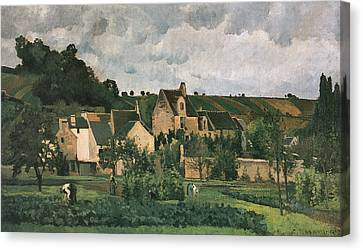 The Hermitage At Pontoise Canvas Print by Camille Pissarro
