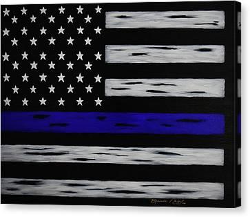 The Heroic Thin Blue Line Canvas Print by Belinda Nagy