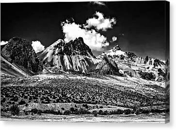 The High Andes Monochrome Canvas Print by Steve Harrington