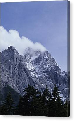 The Highest Mountain In Germany, Der Canvas Print by Taylor S. Kennedy