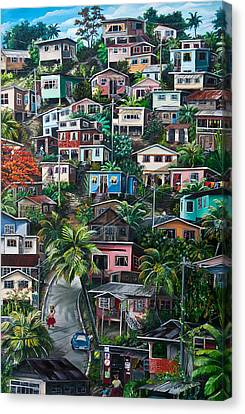 The Hill     Trinidad  Canvas Print by Karin  Dawn Kelshall- Best
