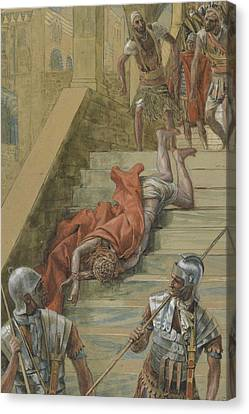 The Holy Stair Canvas Print by Tissot