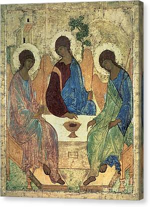The Holy Trinity Canvas Print by Andrei Rublev