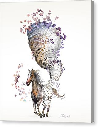 The Horse Canvas Print by Kristina Vardazaryan