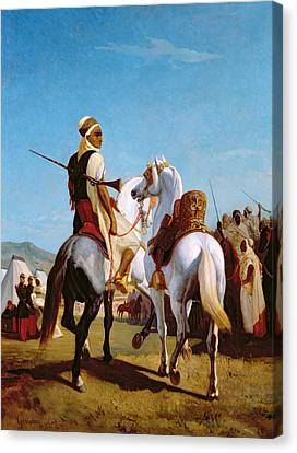 The Horse Of Submission Canvas Print by Louis Eugene Ginain