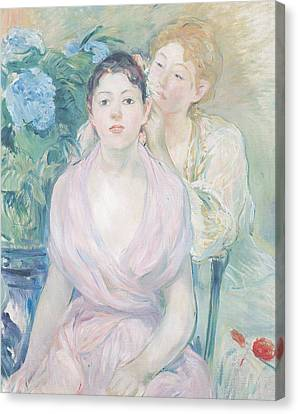 The Hortensia Canvas Print by Berthe Morisot