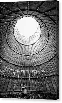 The House Inside The Cooling Tower - Industrial Decay Canvas Print by Dirk Ercken