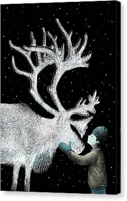 The Ice Garden Canvas Print by Eric Fan