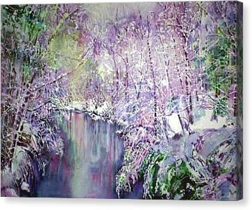 The Ice Storm  Canvas Print by June Conte  Pryor