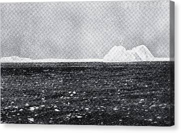 The Iceberg With Which Rms Titanic Of Canvas Print by Vintage Design Pics