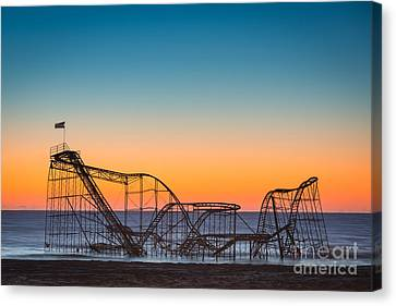 The Iconic Star Jet Roller Coaster Canvas Print by Michael Ver Sprill