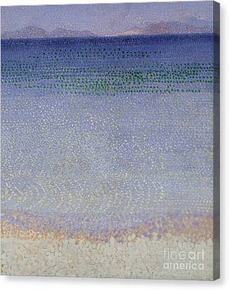 The Iles Dor Canvas Print by Henri Edmond Cross