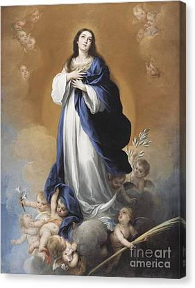 The Immaculate Conception  Canvas Print by Bartolome Esteban Murillo