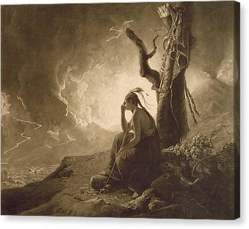 The Indian Widow Canvas Print by Joseph Wright of Derby
