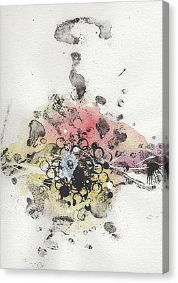 The Inexplicable Ignition Of Time Expanding Into Free Space Phase Two Number 10 Canvas Print by Mark M  Mellon