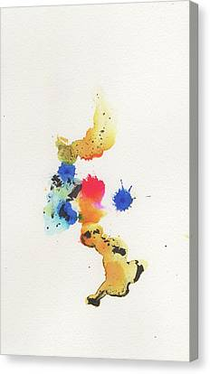 The Inexplicable Ignition Of Time Expanding Into Free Space Phase Two Number 22 Canvas Print by Mark M  Mellon