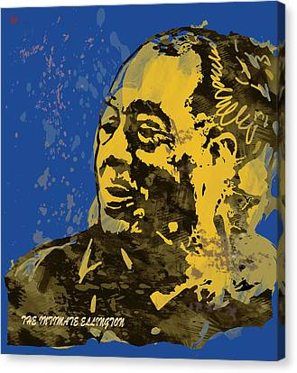The Intimate Ellington Pop Stylised Art Sketch Poster Canvas Print by Kim Wang