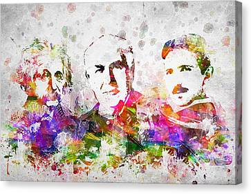 The Inventors Canvas Print by Aged Pixel