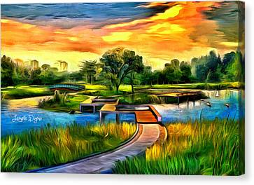 The Island Canvas Print by Leonardo Digenio
