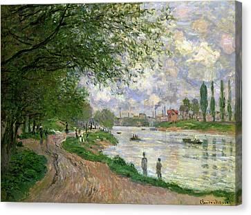 The Island Of La Grande Jatte Canvas Print by Claude Monet