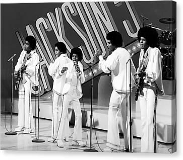 The Jackson 5 1972 Canvas Print by Mountain Dreams
