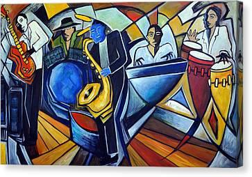 The Jam Session Canvas Print by Valerie Vescovi