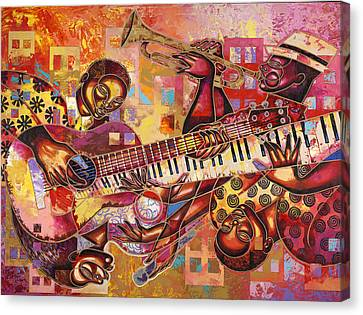 The Jazz Dimension  Canvas Print by Larry Poncho Brown