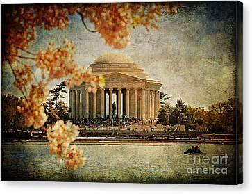 The Jefferson Memorial Canvas Print by Lois Bryan
