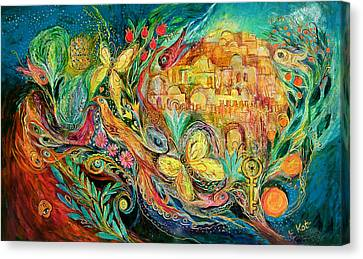 The Jerusalem Key Canvas Print by Elena Kotliarker