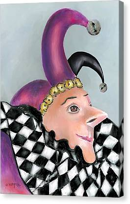 The Jester Canvas Print by Arline Wagner